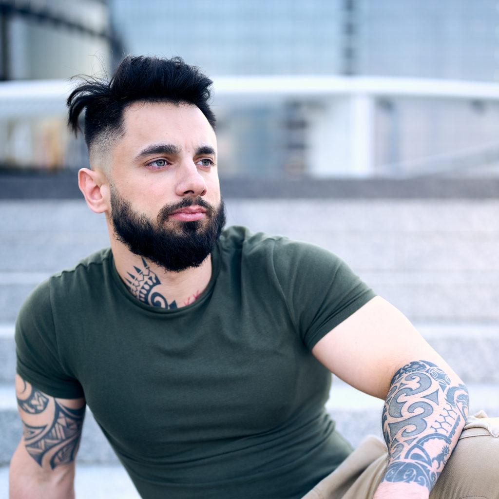 мужской портрет фотосессия площадь сити